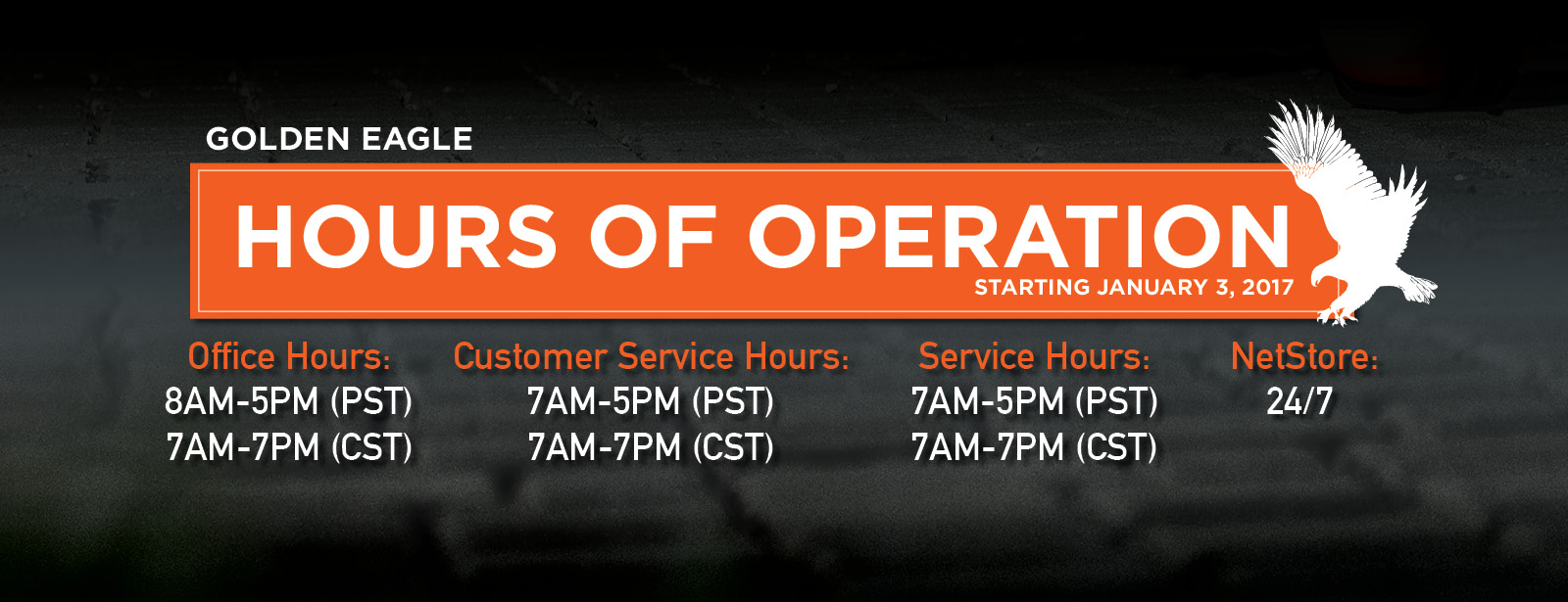 Hours of opperation